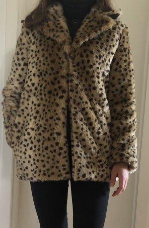 Mantel in Leopardenprint