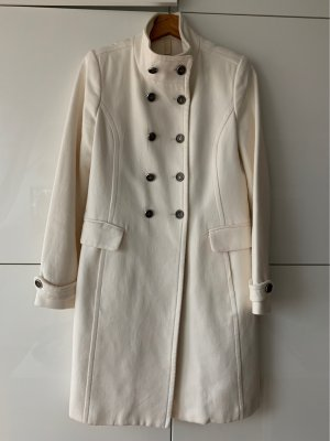Mango Suit Heavy Pea Coat natural white