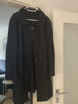 Cinque Short Coat black-white wool