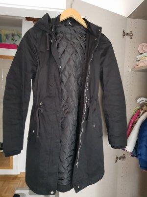 H&M Divided Abrigo con capucha negro