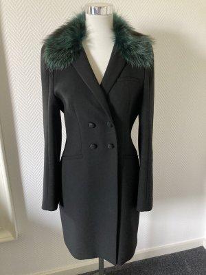 Zara Geklede jas zwart-bos Groen