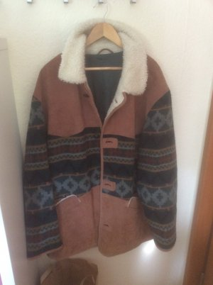 McNeal Leren jas bruin-wolwit