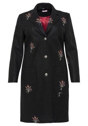 Sheego Manteau en laine noir polyester