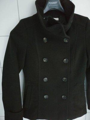 H&M Krótki płaszcz czarny