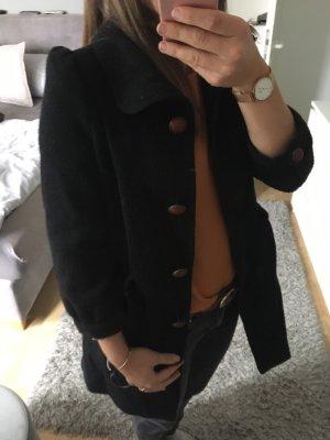 Mantel Jacke Herbst /Winter ZARA schwarz braune Knöpfe 36 S