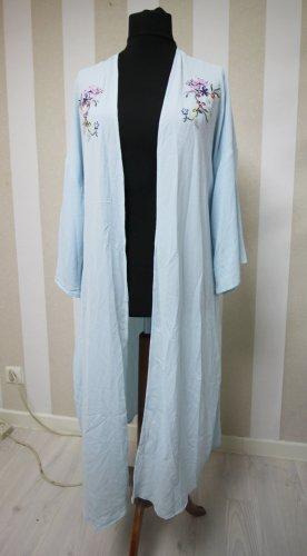 Abrigo largo azul claro