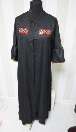 Manteau long noir-rouge