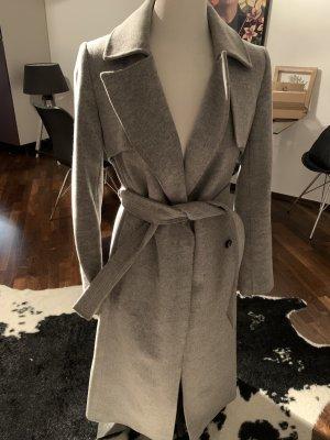 KAREN MILLEN Płaszcz zimowy szary-srebrny