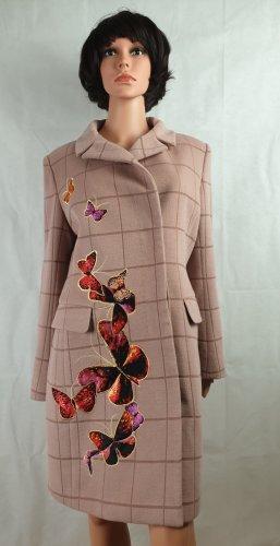 Cappotto in lana rosa antico