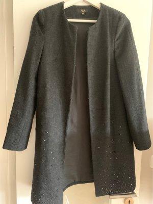 1.2.3. UN DEUX TROIS Paris Krótki płaszcz czarny-ciemnoszary