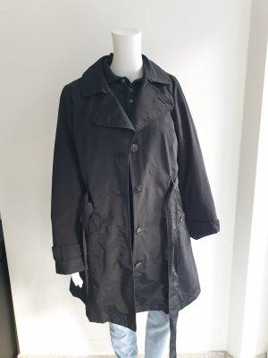 Mantel Karstadt Schwarz 40 trenchcoat Jacke Pullover Pulli Cardigan Strickjacke blazer hemd bluse bomberjacke