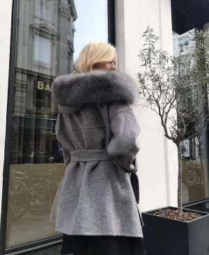 Pelt Jacket grey-silver-colored cashmere