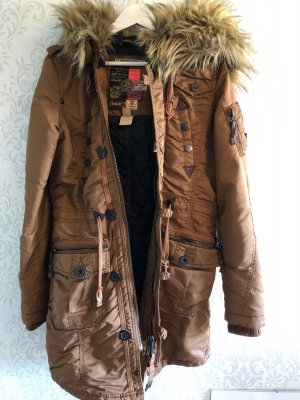 Khujo Manteau à capuche brun