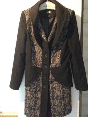 Mantel Kurzmantel Jacke Kenny S peplum Größe S 36 38 Long-Blazer Long blazer