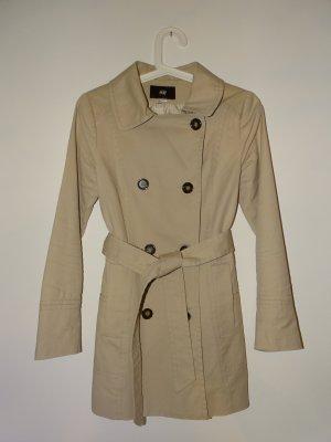 Mantel Kurzmantel Langarm Kragen Taschen Knöpfe Beige Gr.36 H&M (NP: 45€)