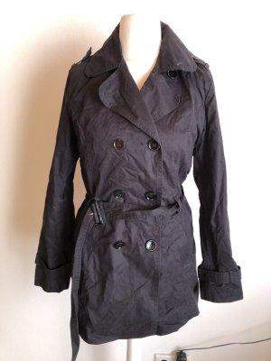 Mantel Kurzmantel Trenchcoat schwarz Gr. 38