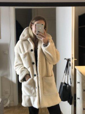 Mantel Lammfell Optik Zara