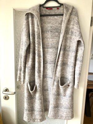 Mantel lang Cardigan Strickmantel beige grau Gr.40