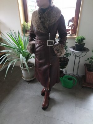 marinni Leather Coat brown