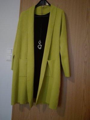 Made in Italy Długa kurtka limonkowy żółty