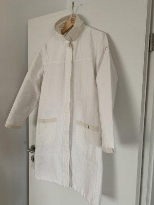 Sessun Abrigo de entretiempo blanco puro Algodón