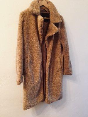Vero Moda Fake Fur Coat camel