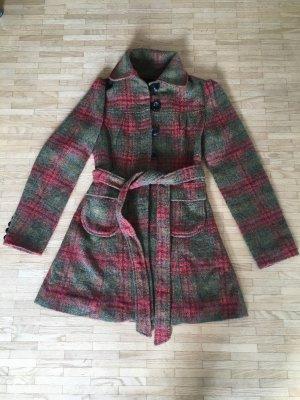 Mina UK Heavy Pea Coat khaki-dark red