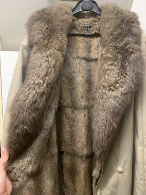Płaszcz zimowy jasnobrązowy-beżowy