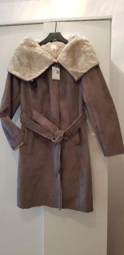 Mantel mit breiten Schalkragen