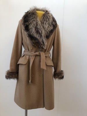 Benetton Wełniany płaszcz Wielokolorowy
