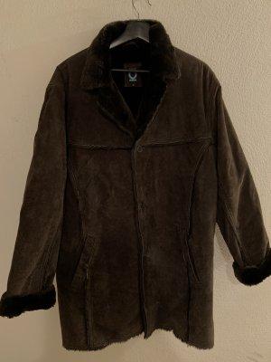 Blue One Manteau d'hiver brun noir-brun foncé