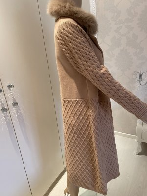 Mantel mit Fell Kragen abnehmbar  Gr M / L camel 50% Viscose