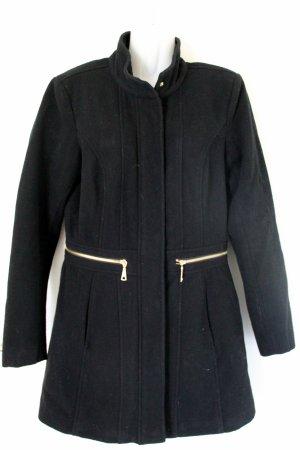 Mantel mit goldenen Reisverschlüssen und Stehkragen