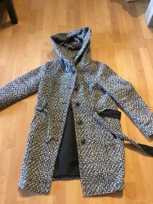 C&A Hooded Coat black-white