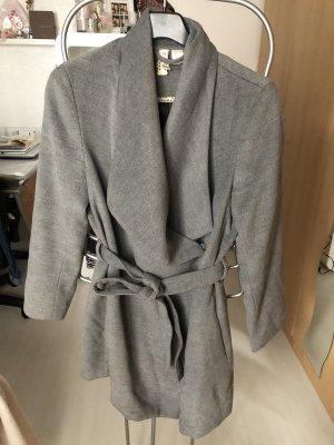 Mantel mit Gürtel in grau/ Gr. 36