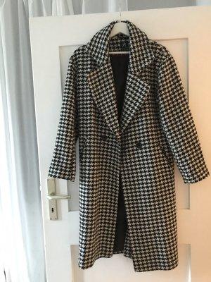 Mantel mit Hahnentritt Muster, 2 mal getragen, S/M,