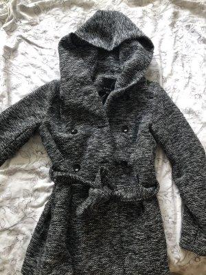 New Yorker Wollen jas wit-zwart