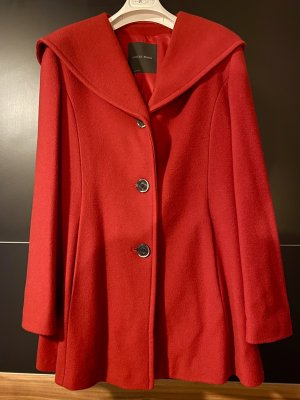 Erich Fend Hooded Coat red wool