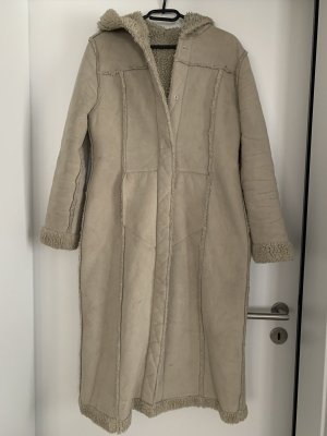 Manteau à capuche beige-crème