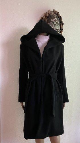 Zara Płaszcz z kapturem czarny