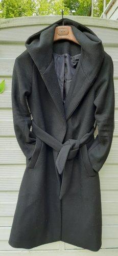 H&M Basic Wollen jas zwart
