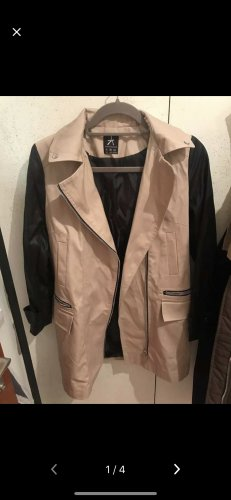 Mantel mit Leder Ärmel