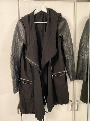 Zara Leren jas zwart