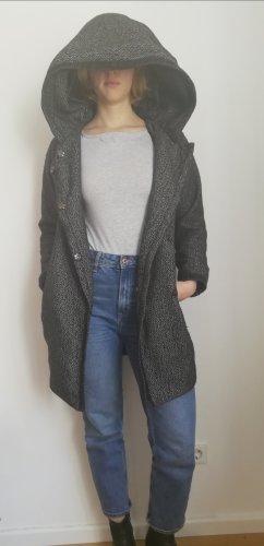 Ark & Co Manteau à capuche noir-argenté