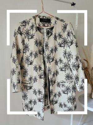 Mantel mit Palmenprint, Gr. L, Zara