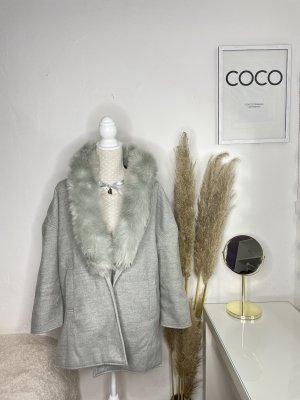 Manteau polaire gris clair