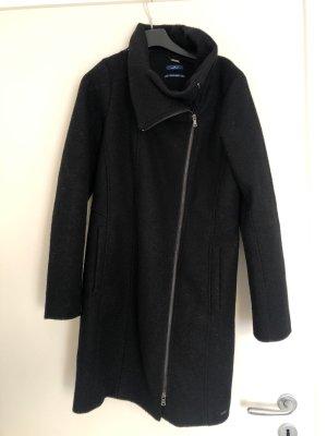 Tom Tailor Wełniany płaszcz czarny