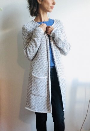Deerberg Knitted Coat natural white-beige