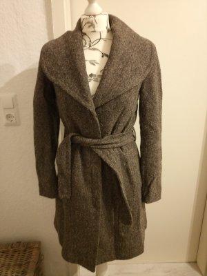 Mantel mit Wolle, H&M, braun, Gr. 36