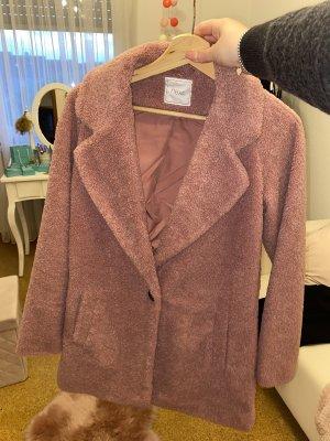 Next Cappotto in pile rosa-rosa chiaro